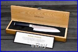 BRAND NEW Kamikoto 7-Inch Santoku Chef's Knife, Ash Wood Storage Case, Authentic