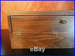 BUCK KNIFE Display Case General Store Counter Glass Wood Dovetail Old! 22 Place