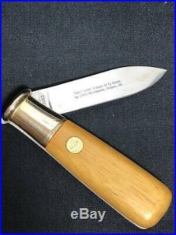 Baseball Hall Of Fame Set Of 6 Folding Knives Franklin Mint Wooden Storage Case