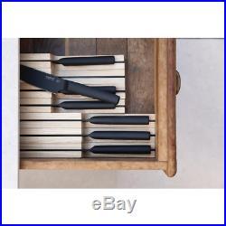BergHOFF Knife Expandable Organizer Ash Wood Kitchen Storage Case Holder