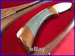 Browning 1979 Jade South Pass Hunter Lockback Knife & Wood Storage/Display Case