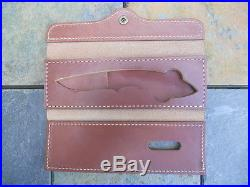 Browning Model 376 Fixed Blade Collector Pocket Knife withLeather Storage Case
