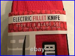 Bubba Electric Corded Fillet Knife with 4 Blades and Carrying/Storage Case