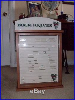 Buck Pocket Knife Dealer Display Case WithStorage Area VG Condition