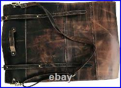 Buffalo Leather Knife Roll Storage Bag Chef Knife Case Roll Travel-Friendly