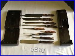 C Set of 9 Cutco Knives & Utensils WithStorage Cases