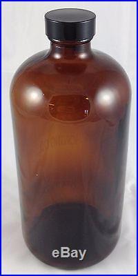 Case Knives Knife Honing Oil Made In USA Etched Brown Glass Storage Jar Bottle