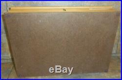 CASE XX 1970's BLUE SCROLL&RAZOR EDGE STAG SET WOOD DISPLAY STORAGE KNIFE BOX