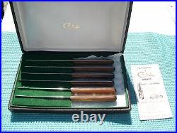 CASE XX USA 6 Steak Knife Set in storage case
