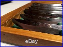CUTCO STEAK KNIFE KNIVES # 1059 Set Of 8 With FANCY WOOD STORAGE CASE BOX