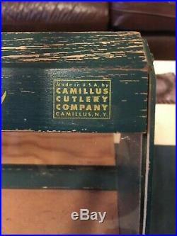 Camco Pocket Knives Pocket Knife Antique General Store Display Case