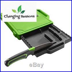 Camp Kitchen Kit with Cutting Board Sharpener Paring Knife Storage Case Camping