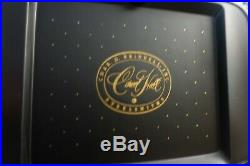 Carvel Hall Mid Century Set of 6 Sleek Shiny Steak Knives with Storage Case