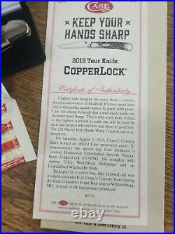 Case 2019 Tour Knife Copperlock Crane's Store