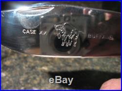 Case 6 Dot Buffalo Knife-stamped Handmade, With Presentation/storage Box, Unused