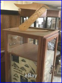 Case Knife Display (floor)with Display Boards (No Knives) & Storage! Rare Find