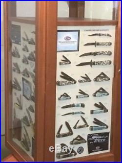 Case Knives Display (floor)with Display Boards (No Knives) & Storage! Rare Find