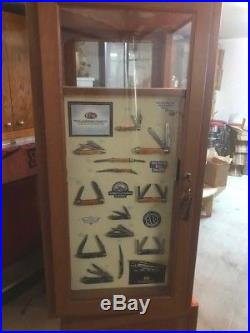 Case Knives Floor Display with Display Boards (No Knives) & Storage! Rare Find