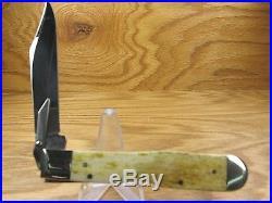 Case Vault Cheetah Knife Swing Guard 6111 1/2l Bone Handles Storage Tin Sheath