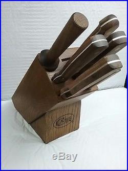 Case XX 07249 Household Cutlery 7-Piece Knife Set with Hardwood Storage Block