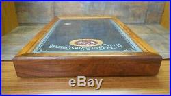 Case XX 2002 Autumn Bone Silver Script 1/250 Mint Set Knife Storage Display