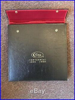 Case XX Centennial 1889-1989 Beautiful 48-Knife Display / Storage Portfolio