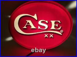 Case XX Knives Dealer Advertising Light Sign Hardware Country Store