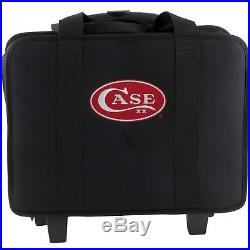 Case XX Logo Cutlery 63 pc Knife Carrying Storage Pack Luggage Style Wheels