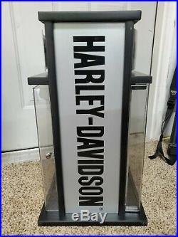 Case XX RARE Harley-Davidson Dealer Knife Display 2' Tall Also Storage In Center
