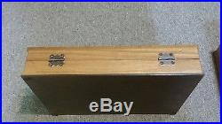 Case XX Wood Knife Storage Display Case c. 1970's for Red Etch Blue Scroll etc