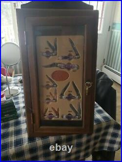 Case xx store display case and collectible folding knives with boxes