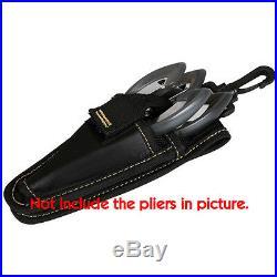 Challion Fishing Plier Scissor Knife Case Pouch Waist Holder 2 Storage Hard Type