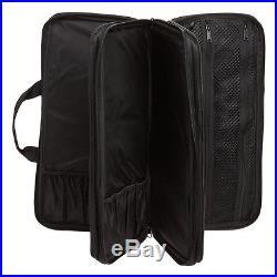 Chef Knife Case Black Deluxe Set Holder Organizer Storage Pocket Carrying Bag
