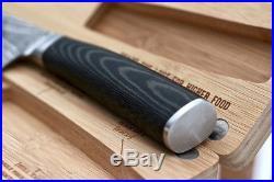 Chef Knife & Wooden Cutting Board/Storage Case Kitchen Set SMOKED Series 8