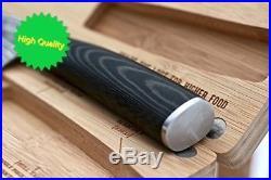 Chef Knife Wooden Cutting Board/Storage Case Kitchen Set SMOKED Series 8 inc