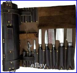Chef Knife Wrap Bag Portable Durable Storage Carry Case Kitchen 17 Pockets KB003