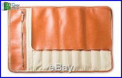 Chef Knives Bag Storage Case Roll 8 Pockets Organizer Kitchen Utensils Leather