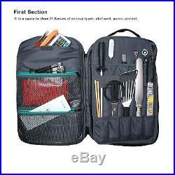 Chefcase Backpack Plus Chef Pocket Knife Case Satchel Large Storage Pocket