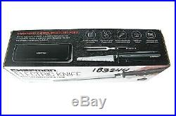 Chefman Electric Knife + Bonus Carving Fork & Space Saving Storage Case RJ52 NEW