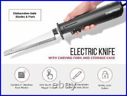 Chefman Electric Knife with Bonus Carving Fork & Space Saving Storage Case
