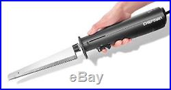 Chefman Electric Knife with Bonus Carving Fork & Space Saving Storage Case I
