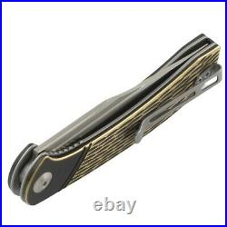 Civivi Dogma Brass Handle Damascus Steel Blade Linerlock Folding Pocket Knife