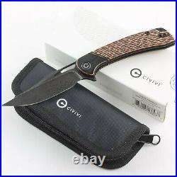 Civivi Dogma Copper Handle Damascus Steel Blade Linerlock Folding Pocket Knife