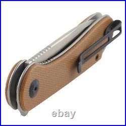 Civivi Elementum Brown Micrata Handle Linerlock Pocket Knife D2 Tool Steel