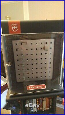 Collection of VICTORINOX Swiss Army Knife ROTATING & LOCKING STORE DISPLAY CASES