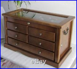 Collector's Choice Knife Display Case Cabinet, Storage Cabinet, Solid Wood