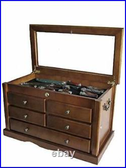 Collector's Choice Knife Display Case Cabinet Tool Storage Cabinet Solid Wood