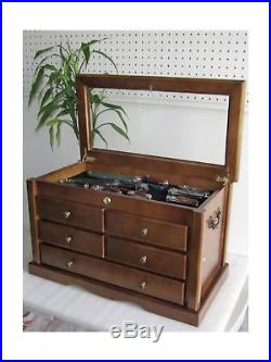 Collector's Choice Knife Display Case Cabinet, Tool Storage cabinet, Solid Wo