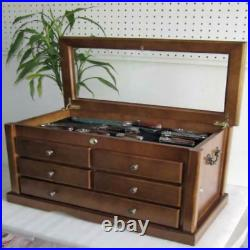Collector's Choice Knife Display Case Cabinet, storage cabinet, Solid Wood, Gall