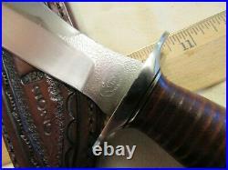 Custom Handmade Knife. Chuck Schuette Retro Fighter. Unused. Excellent++